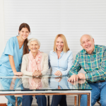 Caregiver and Happy Family